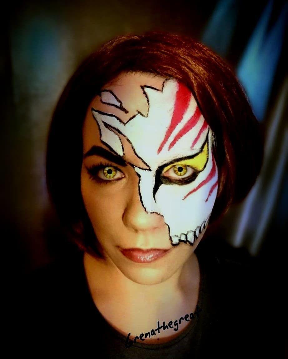 Halloween Makeup Inspired By Bleach Ichigo Hollow Mask Fantasy Makeup Amazing Halloween Makeup Halloween Face Makeup