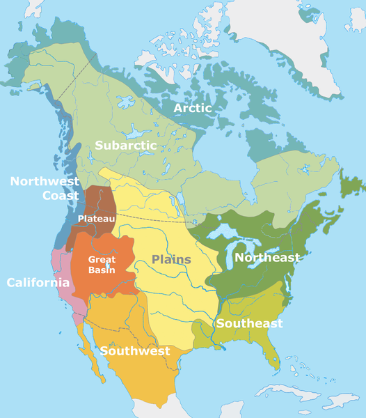 Native American Culture Groups Map - APUSH | History | Native