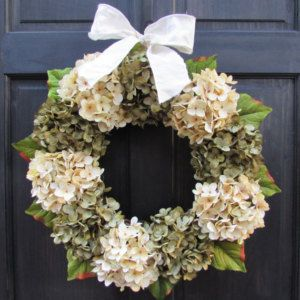 Front Door Wreath, Hydrangea Wreath, Everyday Wreath, Year Round Wreath, Seasonal  Wreath, Front Door Decoration, All Season Wreath For Door