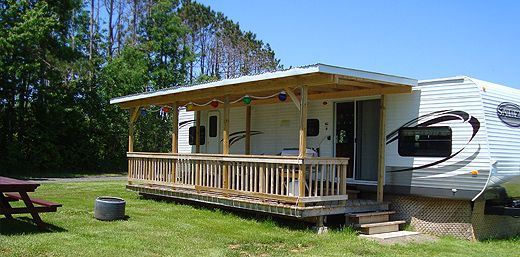 rv deck ideas yahoo image search results trailer life