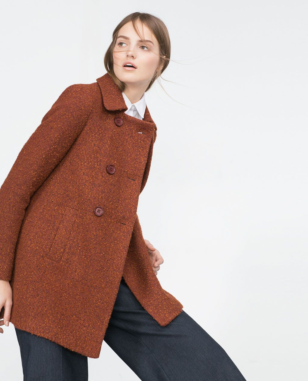 Bilde 3 fra BOUCLÉ YTTERJAKKE fra Zara
