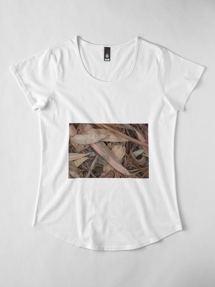 Gum Leaf Magpie Springs Adelaide Hills Wine Region Fleurieu Peninsula South Australia Premium Scoop T Shirt Clothes For Women Classic T Shirts T Shirt