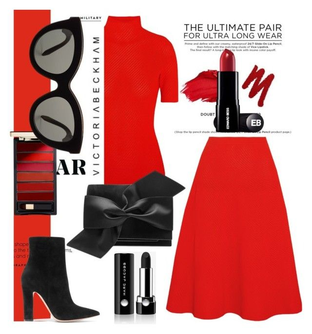 """""""Red is always red....."""" by tiraboschi-b ❤ liked on Polyvore featuring Urban Decay, Victoria Beckham, Gianvito Rossi and Marc Jacobs"""