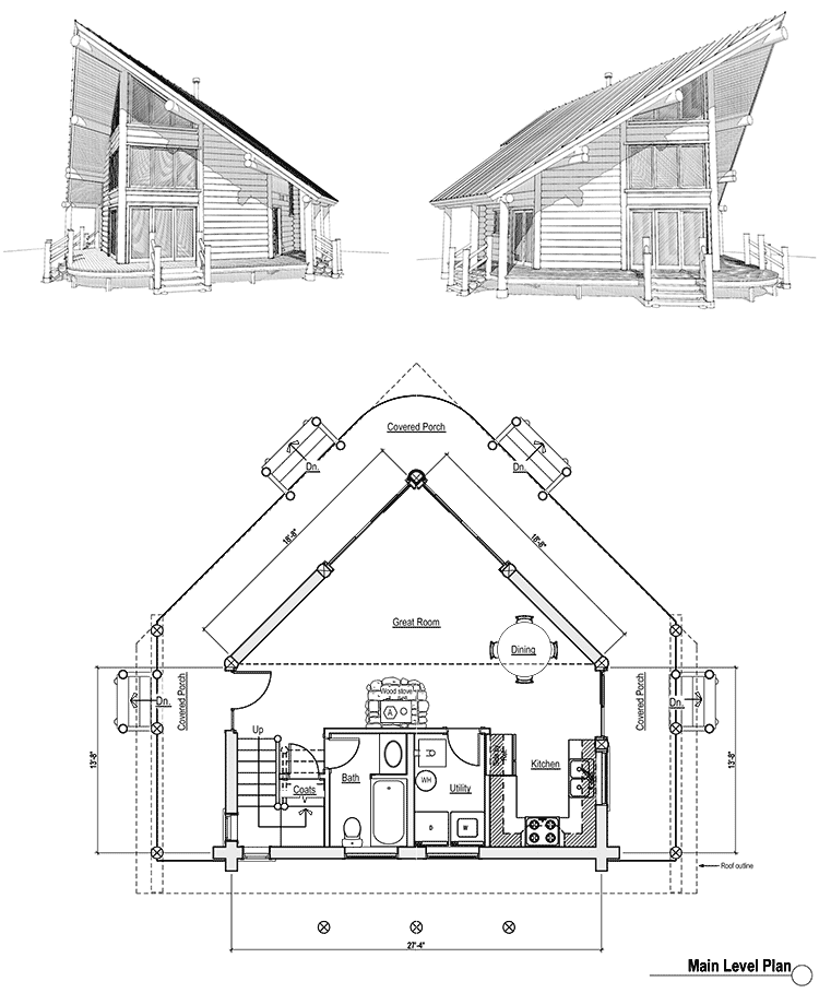 awesome small frame house plans #7: log cabin floor plans on appalachian log homes floor plans i