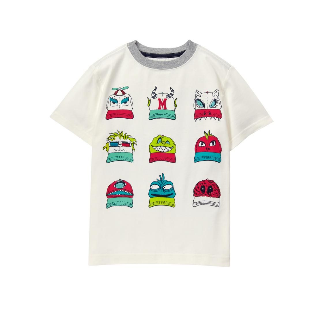 Boys Ivory Monster Caps Tee by Gymboree