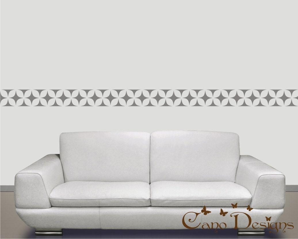 Border Vinyl Wall Decal 14 ft long, home decor , removable wallpaper ...