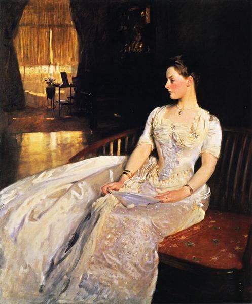 Mrs. Cecil Wade, 1886 by John Singer Sargent. Realism. portrait