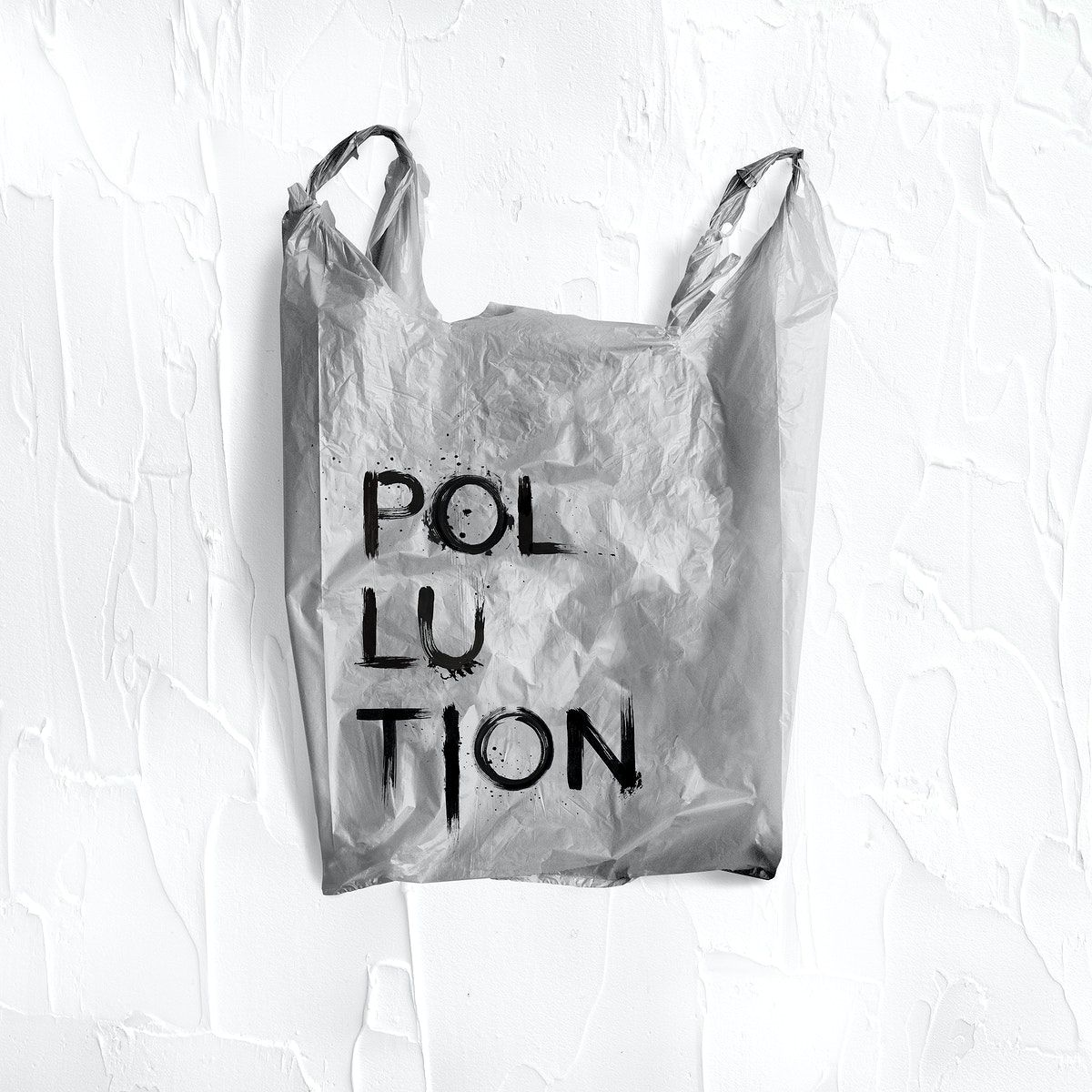 Download Download Premium Psd Of Pollution Word Written On A Gray Plastic Bag Bag Illustration Bag Mockup Paper Bag Design