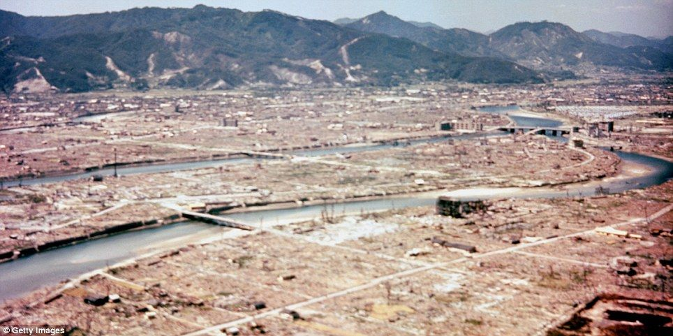 the devastation in the city of hiroshima after the atomic bombing in 1945 Hiroshima and nagasaki bombing timeline  the bombing of hiroshima: august 6, 1945  the radius of total destruction from the atomic blast was about one mile .