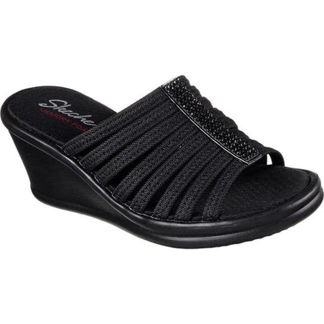 bc3661ba446a Women s Skechers Rumblers Beautiful People Black Sandals