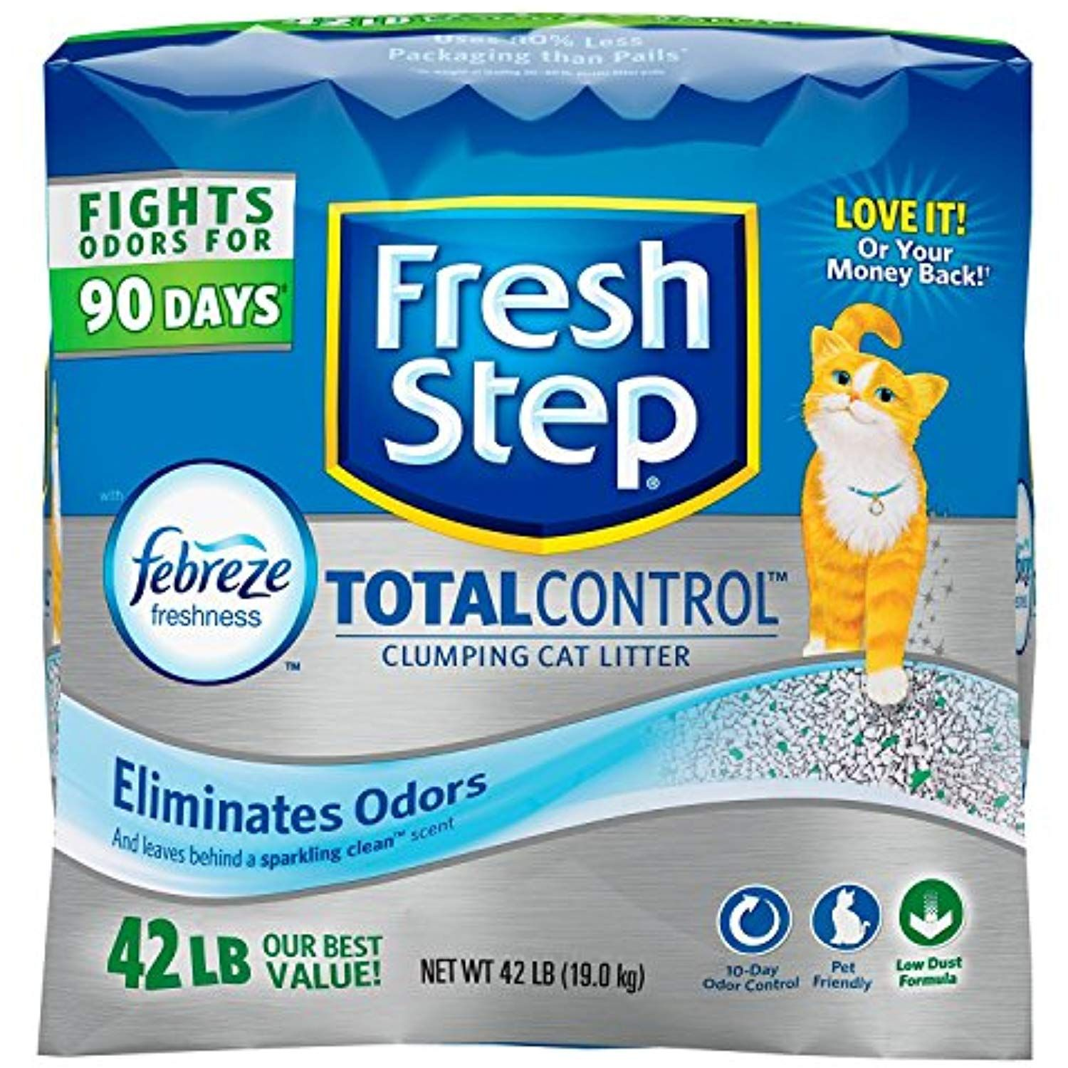 Fresh Step Total Control with Febreze Clumping Cat Litter