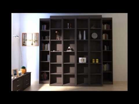 Madison Bi Fold Bookcase Bed More E Place Murphy Beds