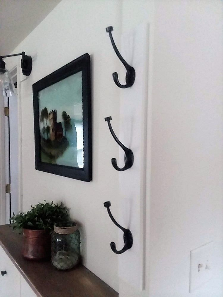 Diy Wall Mounted Vertical Coat Rack With Hooks Diy Wall Hooks Diy Coat Rack Coat Rack Wall