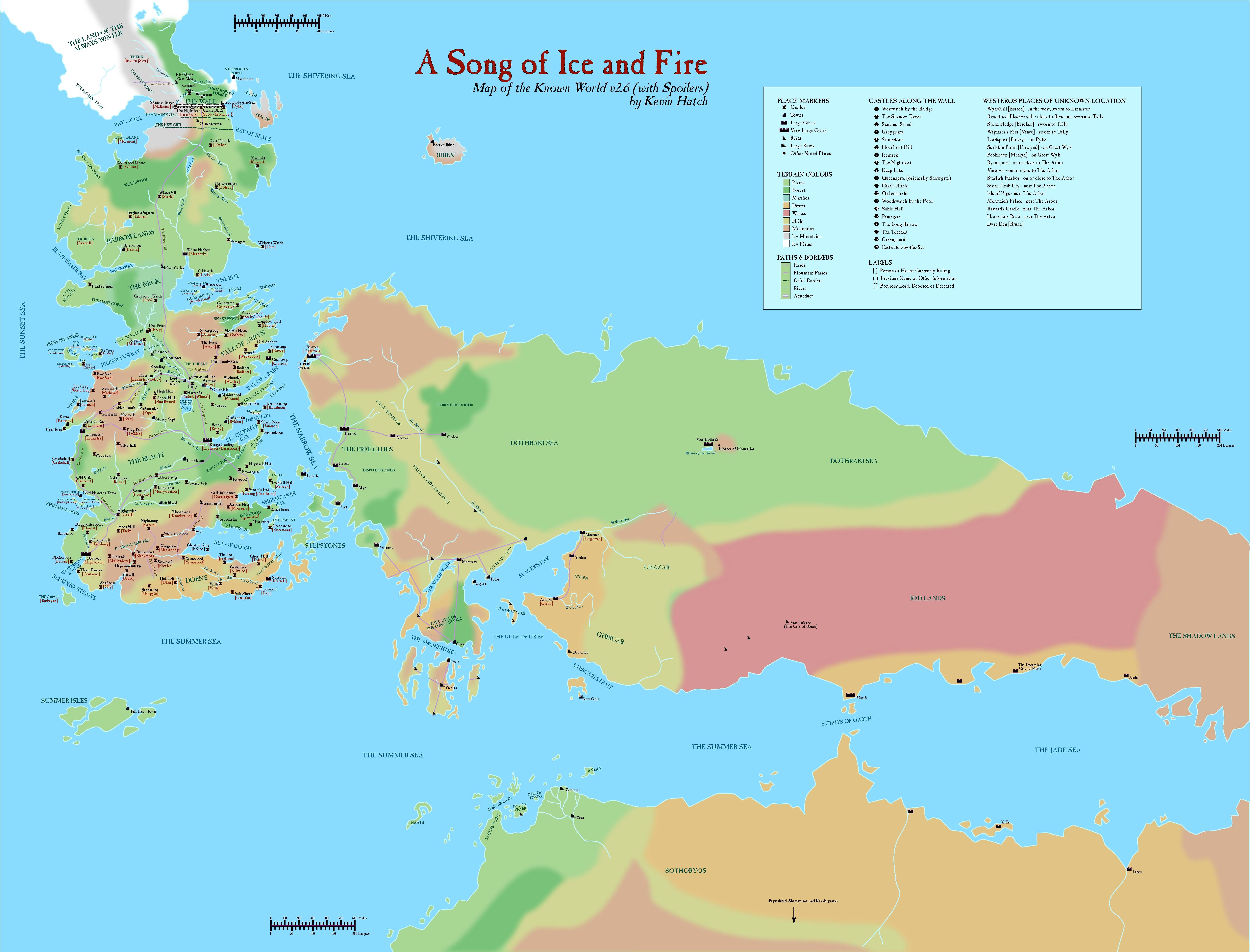 map of Westeros and Essos. A Song of Ice and Fire. #GoT #asoiaf ...