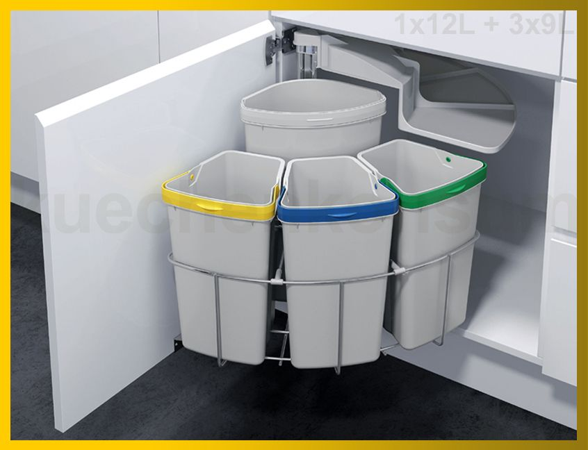iTouchless 2 Compartment Stainless Steel Recycling Bin $17864 - abfalleimer k che einbau