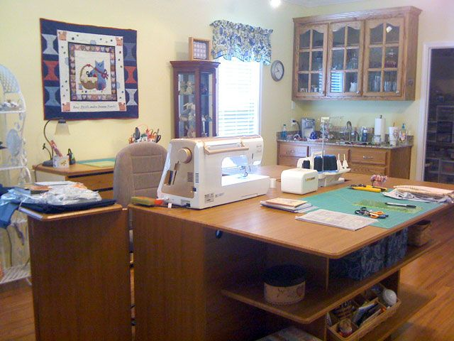 Mary E From Ponchatoula La My Studio Style Koala Sewing Cabinets Sewing Room Design Sewing Rooms