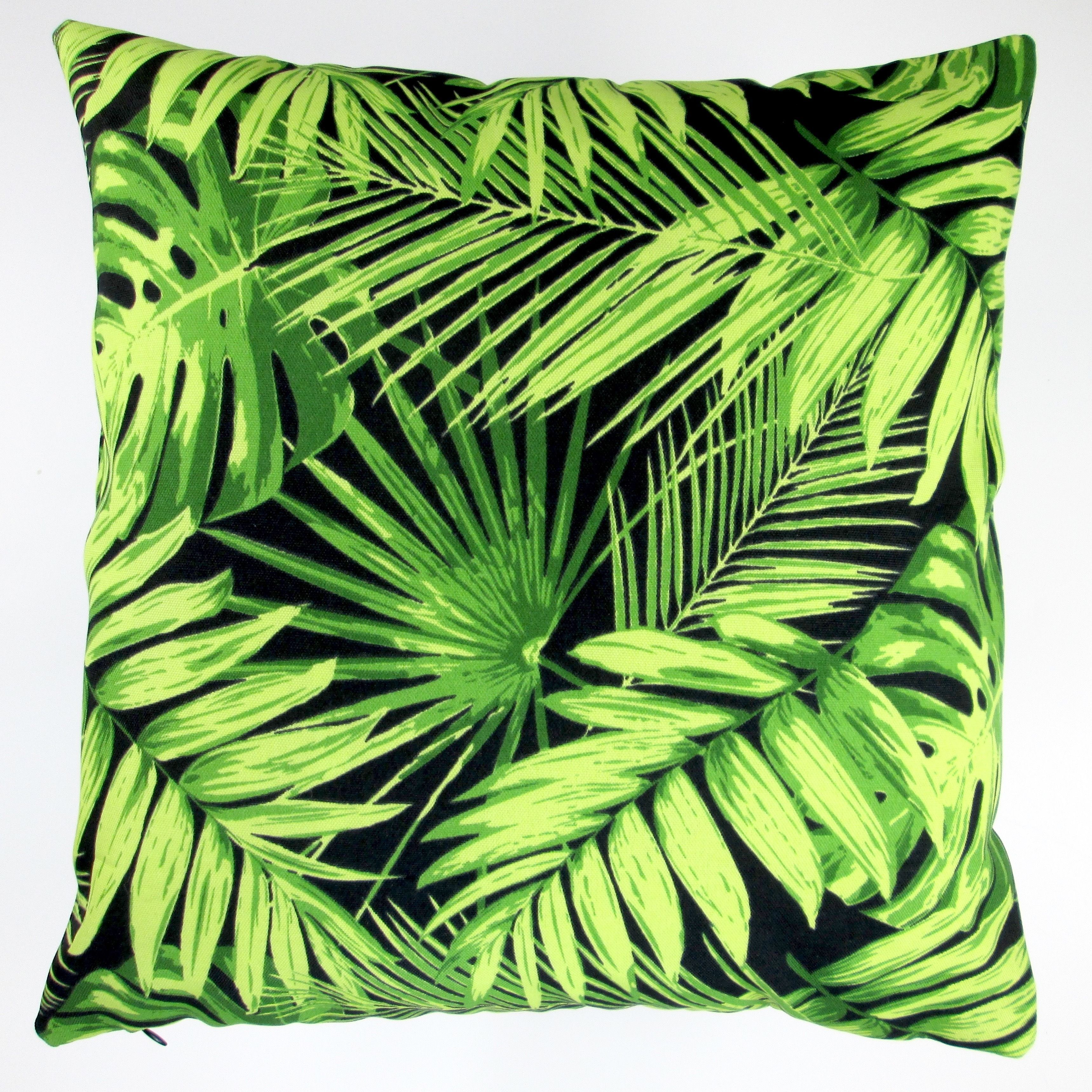 green swaying outdoor by cover leaf palms pillows pin cushion beach on decor palm anitascasa coastal tropical teal pillow coral and piping