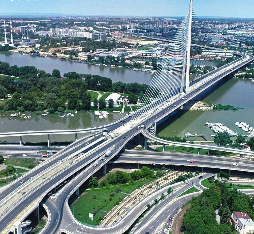 Ada Most I Njena Reka Sava Serbia Places To Go Places To Visit