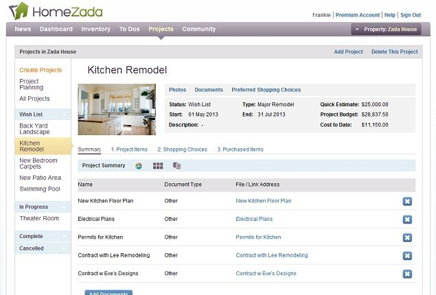Organize Your Home Projects With Homezada Budgeting Maintenance