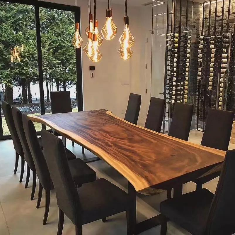 China Supplier Natural Raw Slab Table Top Walnut Bubinga Acacia