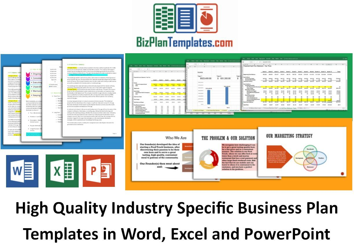 Easy to Use Business Plan Template Business planning