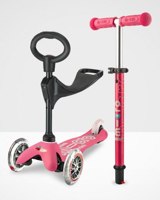 Mini Micro 3in1 Deluxe Scooter Pink Baby Toys Wishlist Micro