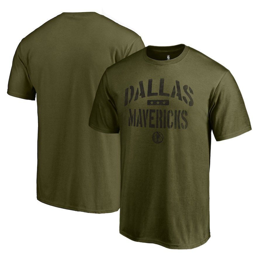 Men s Dallas Mavericks Fanatics Branded Green Camo Collection Jungle T-Shirt 8b7a5e9af