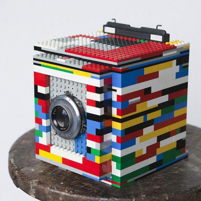 Chambre 4x5: Cámara Estenopeica De Lego