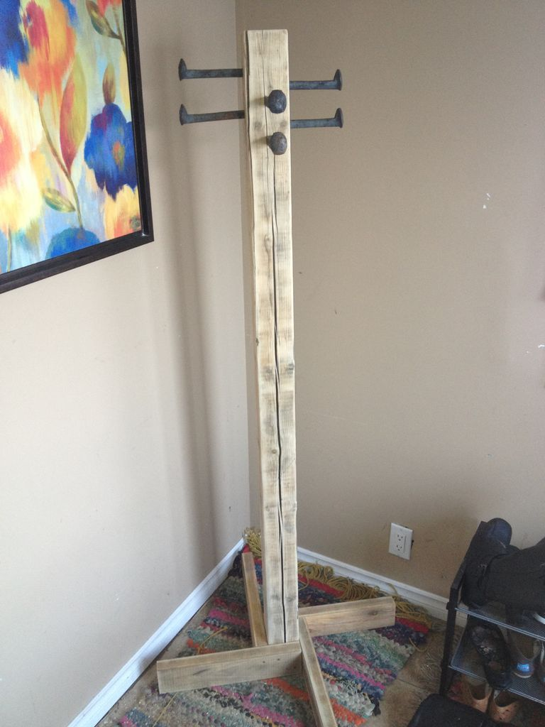 Coat Rack Out Of Scrap Coat Tree Railroad Spikes And