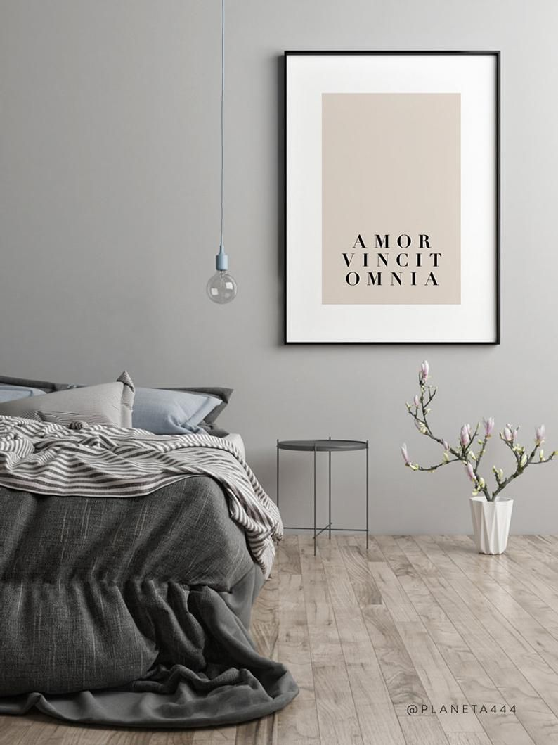 Amor Vincit Omnia Minimal Art Love Quote Latin Quote Love | Etsy  #bedrooms #bedroomart #decorating #instadecor #decorating #amor #amore #couplegift #wallart #homedecor #decorinspiration #prints #decorideas