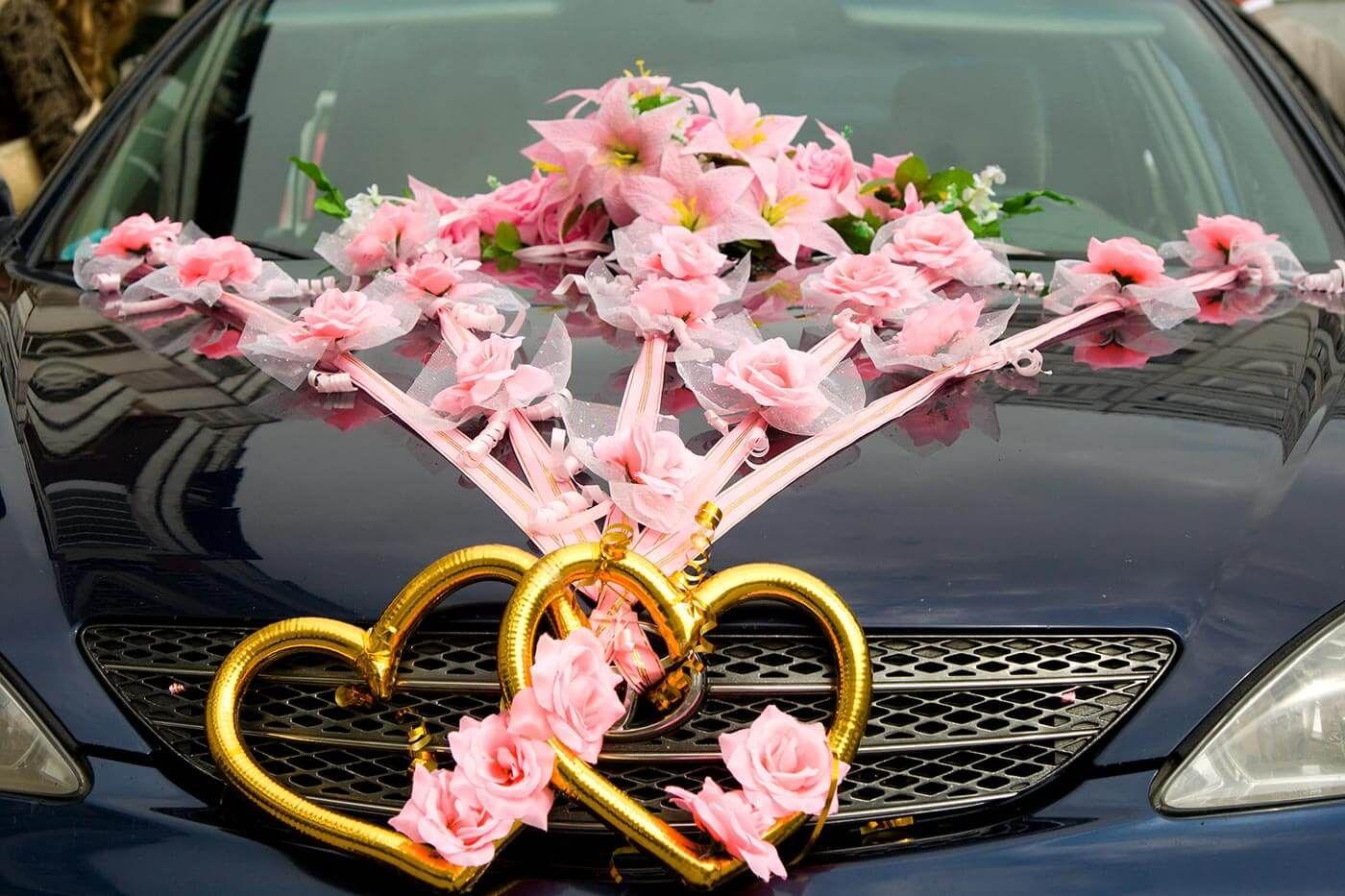 Autoschmuck zur Hochzeit  Autoschmuck zur Hochzeit in