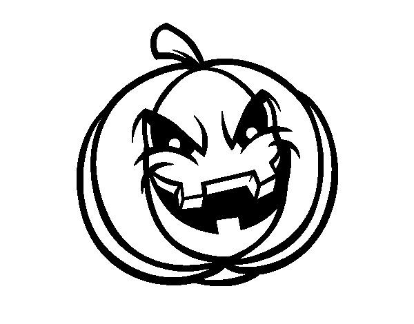 Dibujo de Calabaza Diabólica para Colorear | Dibujos de Halloween ...