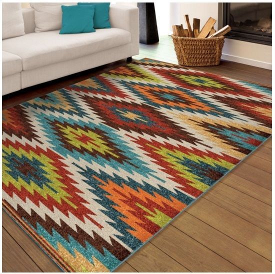 5x8 Southwestern Area Rug Indoor Outdoor Carpet Mexican Style Living Room Decor Cwr