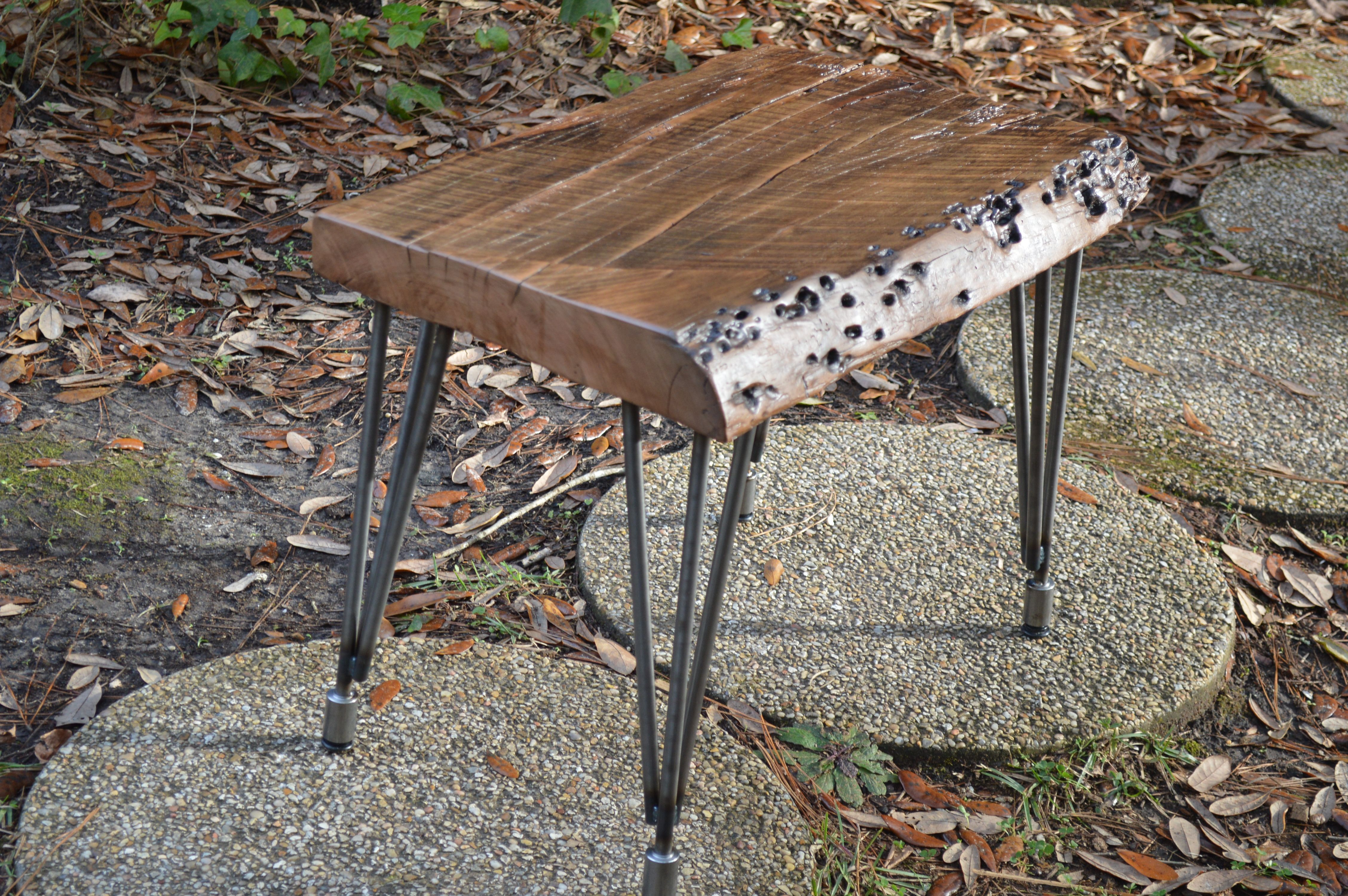Very Rare Sinker Cherry Very Old Mill Marks And Great Live Edge A Real Comfy Stool By Don Hostetler Furniture Bar Table Home Decor