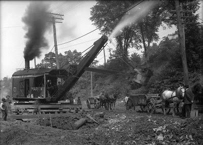 Steam shovel at Panama Canal