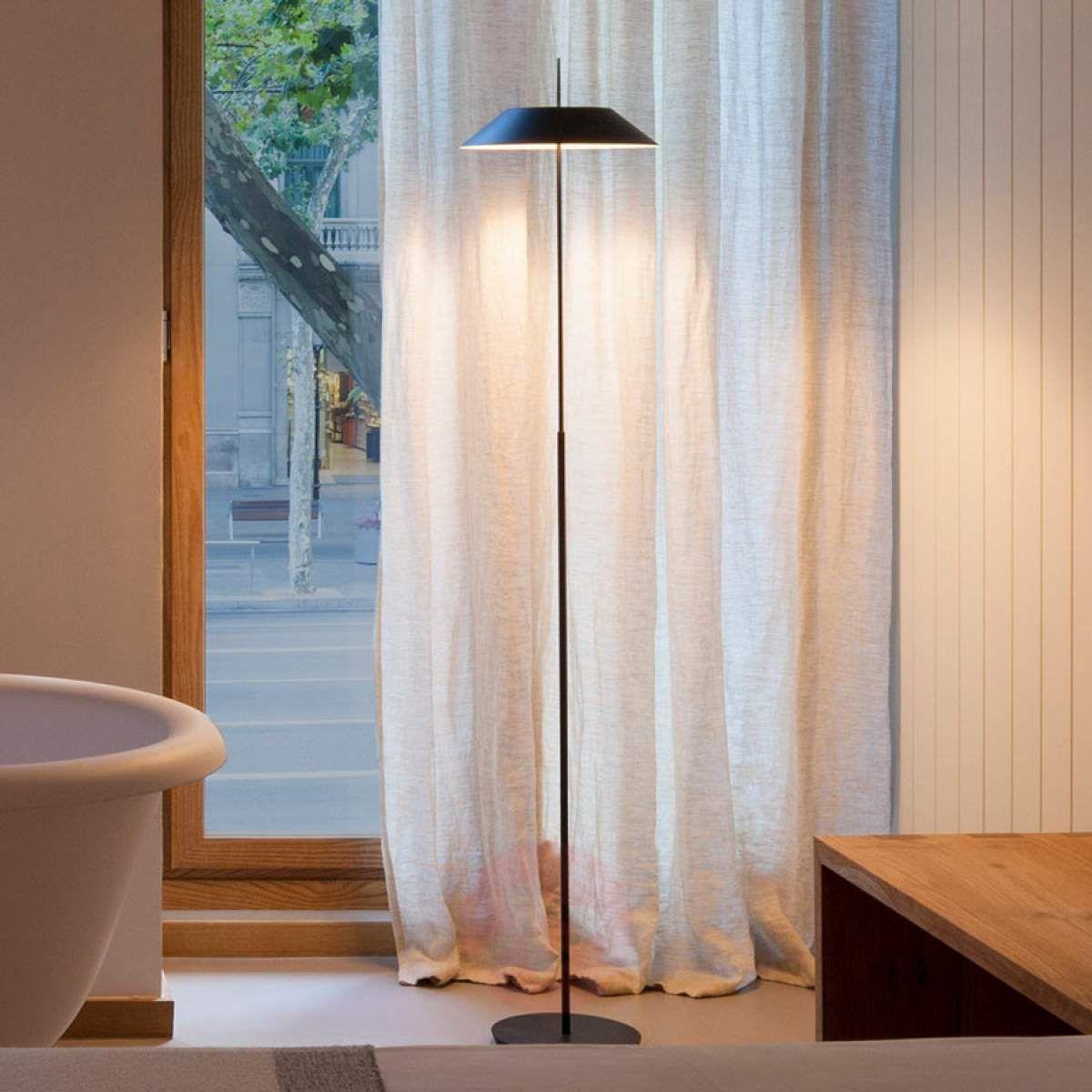 Mayfair Szarografitowa Lampa Stojąca Led Lampy Stojące W