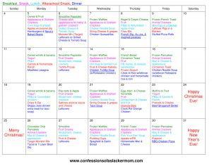 monthly diet plan