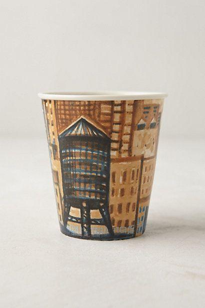 My friend Gwyneth Leech designed these beautiful cups! Ceramic Sketch Cup #anthropologie