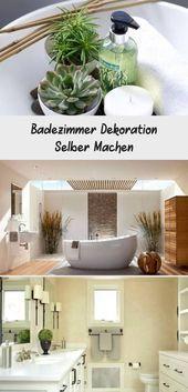 Badezimmer Dekoration Selber Machen - #badezimmer #dekoration #machen #selber - #new #wanddekoselbermachen
