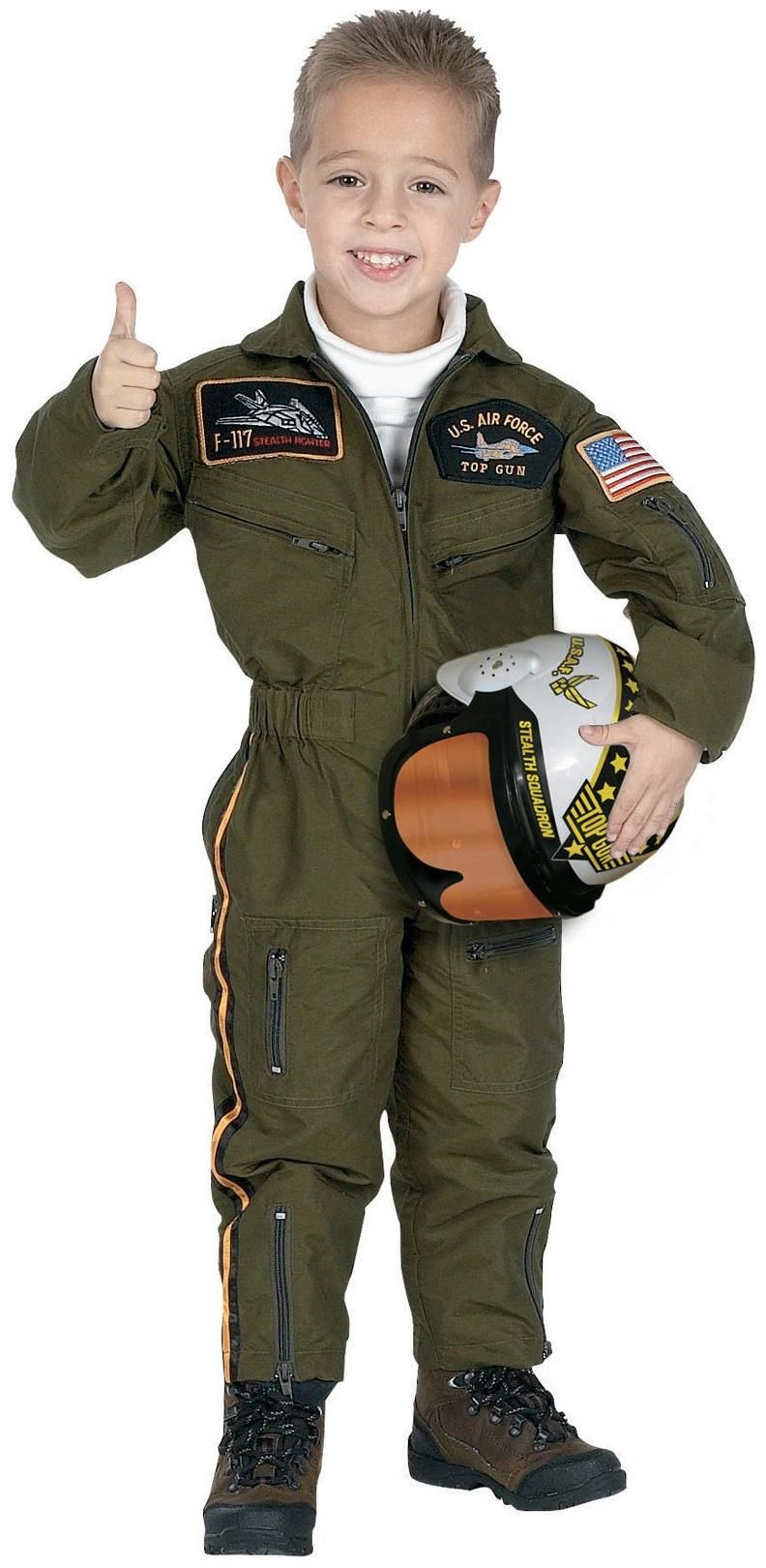 Have your boy feel like a hero in this pilot costume. he is going to look like a professional air force pilot. This impressive will make everyone salute to your kid. #armedforcesday #childcostumes #childarmycostumes #childmilitarycostumes #partydresses #militarycostumes #boyspartycostumes #boysarmycostumes