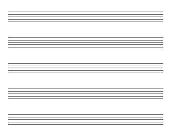 Landscape Blank Leadsheet Template Kid Size Sheet Music Sheet