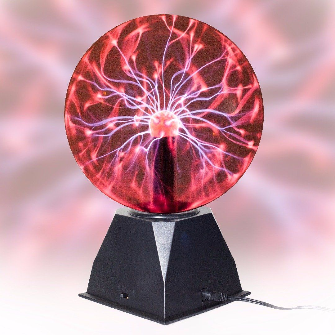 Umr True 8 Plasma Ball Lamp Large Electric Globe Static Light W Touch Sound Sensitive Lightning Big 8 Inch Glass Sph Ball Lamps Ball Lights Science Toys