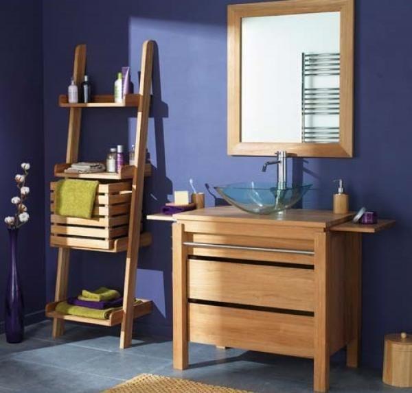 Petite salle de bain bois - Petite salle de bain en bois de chez - devis carrelage salle de bain