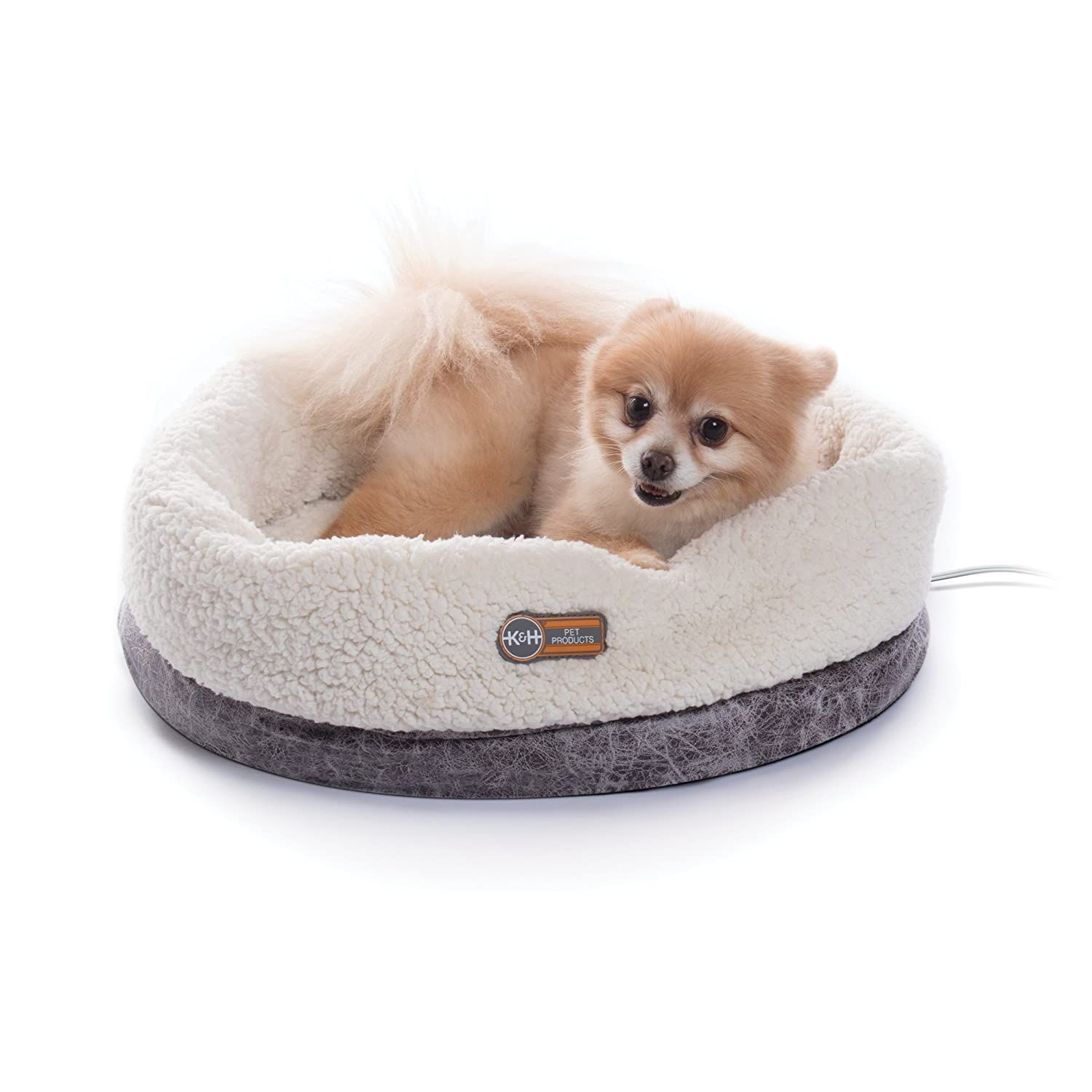 Kandh Pet Products Thermo Snuggle Cup Bomber 14 X 18 Indoor Heated Cat Bed Met Listed Removable 4 Watt Heated Include Heated Cat Bed Cat Bed Snuggles