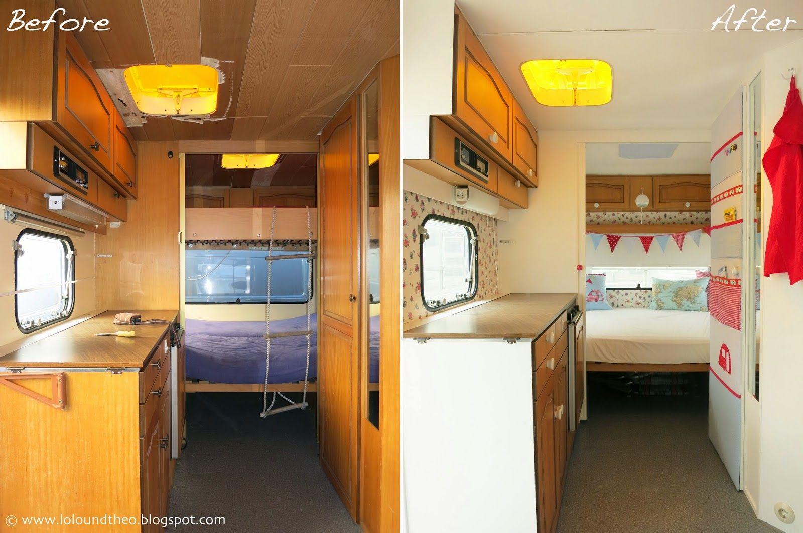 unser wohnwagen ist fertig das gro e vorher nachher finale casetta lago pinterest camping. Black Bedroom Furniture Sets. Home Design Ideas