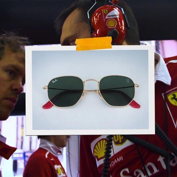 f1a090892 Ferrari lança relógios e coleção de óculos escuros com a Ray-Ban, no Grande  Prêmio do Brasil de F1. #MensFashionSummer