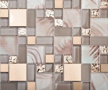 Stainless steel tile backsplash kitchen glass tiles glass mosaic bathroom tiles…