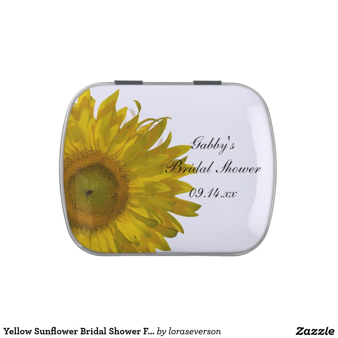 Yellow Sunflower Bridal Shower Favor Candy Tin | Bridal Shower: Tin ...