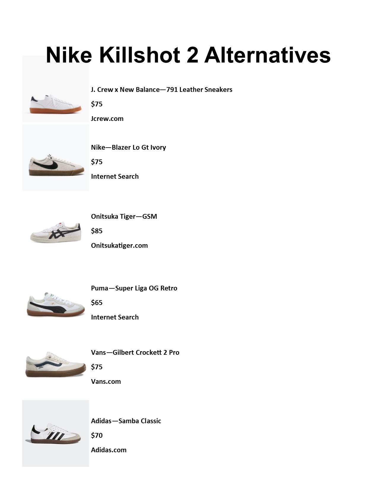 Bloquear Estallar Reunión  Nike Killshot 2 Alternatives #styled247   Nike killshot, Nike, Large men  fashion