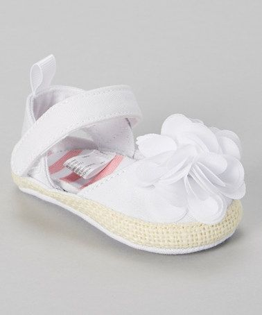 62b055e8c27a Easter Look what I found on  zulily! White Flower Espadrille by Stepping  Stones  zulilyfinds